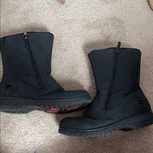 Black rain/snow boots